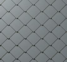 PREFA střešní šablona, 44 x 44 mm stucco, Světle šedá P.10