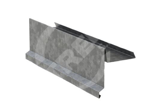 Závětrná lišta r.š.330mm, Pozinkovaný plech, Přírodní
