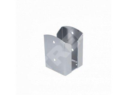Patka sloupku čtvercová PSPW 100, rozměr 101x102x150x2,5 zinek žárový