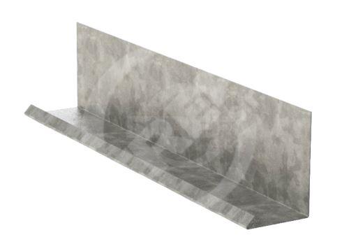 Lemování zdí r.š.250mm v kombinaci s krycí lištou, Pozinkovaný plech, Přírodní