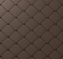 PREFA střešní šablona, 44 x 44 mm stucco, Vojenská hnědá - khaki P.10