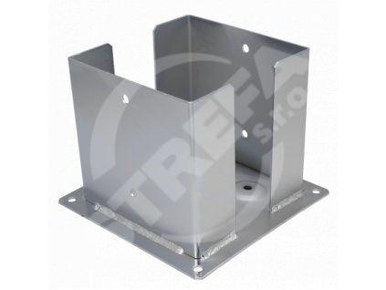Patka sloupku se čtvercovou základnou PSPD 160, rozměr 161x220x200x3,0, zinek žárový