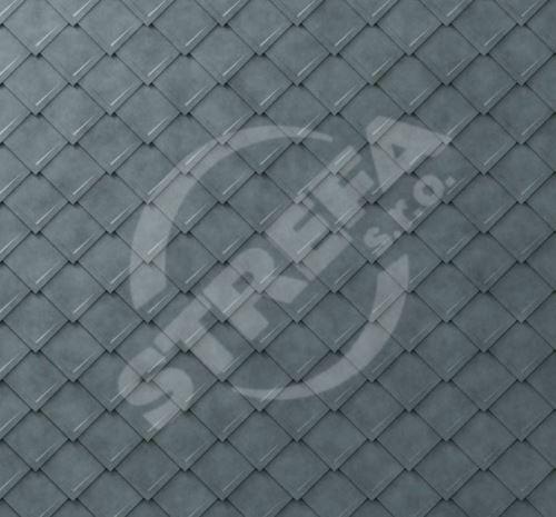 PREFA falcovaná šablona, povrch stucco, Břidlicová P.10