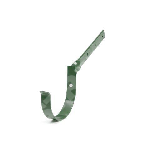 Kovový hák žlabu překroucený Ø 75 mm, Zelená RAL 6020