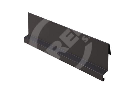 Závětrná lišta r.š. 215mm-zahakovací, Lakovaný pozinkovaný plech s folií, Tmavě hnědá (RAL 8019)