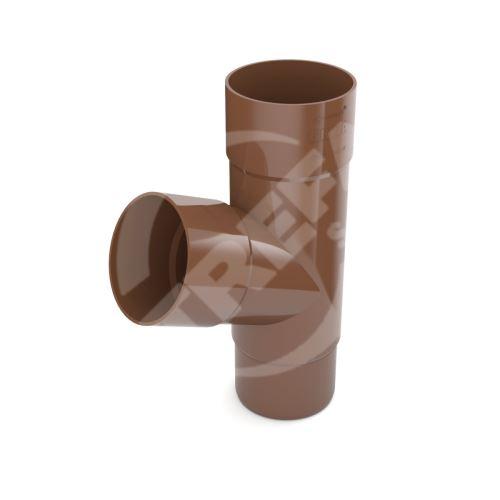 Odbočka svodu plastová Ø 63 mm, Hnědá RAL 8017