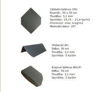 Eureko CPS česká plastová šablona , černá břidlice
