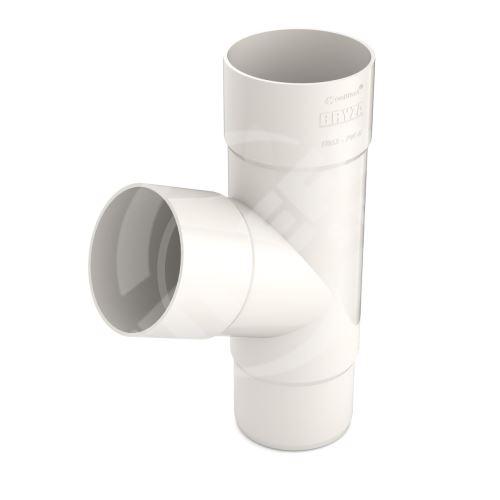 Odbočka svodu plastová Ø 63 mm, Bílá RAL 9010