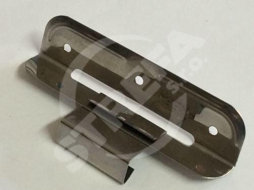 PREFA posuvná příponka uhlová dlouhá, 0,4 mm, nerez ocel