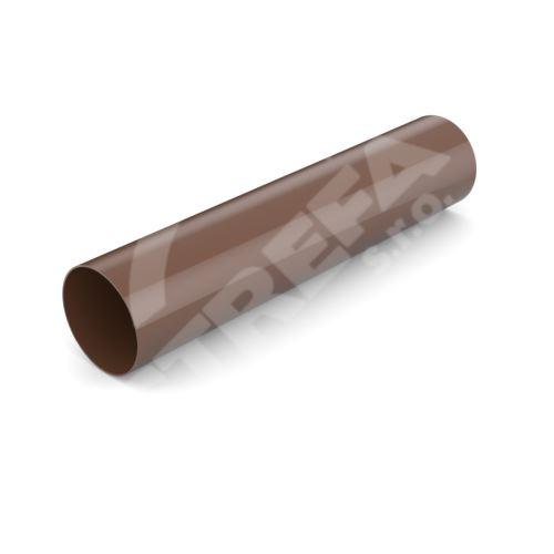 Svod bez hrdla plastový Ø 63 mm, délka 3M, Hnědá RAL 8017