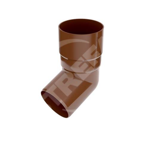 Koleno svodu 67° plastové Ø 63 mm, Hnědá RAL 8017
