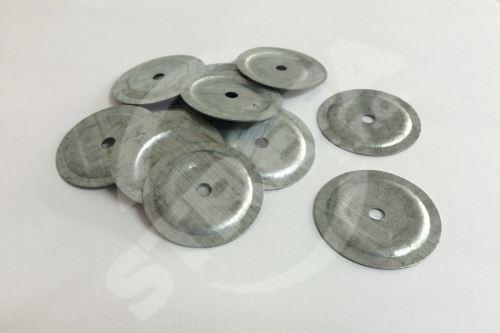 Velkoplošná podložka pro přichycení lepenky  42 x 3,5 x 0,6mm menší díra 4,2 mm