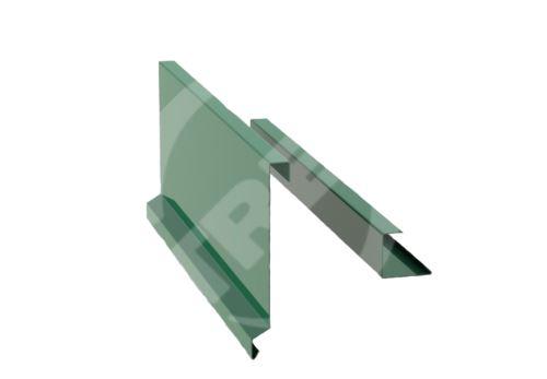 Závětrná lišta r.š. 375mm-ze dvou kusů pro plastovou šindel, Lakovaný pozinkovaný plech s folií, Mechově zelená (RAL 6005)