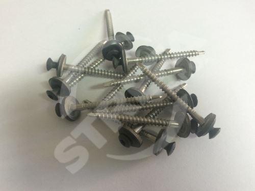 PREFA nerez šrouby s těsněním 4,5 x 45 mm pro malý hřebenáč, P.10