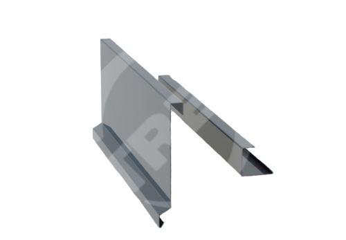 Závětrná lišta r.š. 375mm-ze dvou kusů pro plastovou šindel, Lakovaný pozinkovaný plech s folií, Antracitová (RAL 7016)