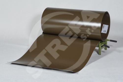 PREFA clr plech ve svitku 0,7 x 1000mm - Vojenská hnědá - khaki/Vojenská hnědá - khaki+folie (RAL7013)