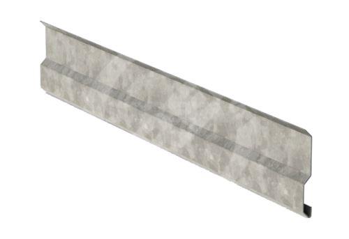 Krycí lišta r.š.100mm, Pozinkovaný plech, Přírodní