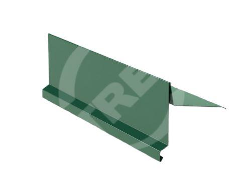 Závětrná lišta r.š. 330mm-na pultovou střechu, Lakovaný pozinkovaný plech s folií, Mechově zelená (RAL 6005)