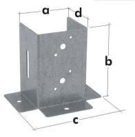 Patka sloupku 100, PSP100,101x150x2 zinek žárový
