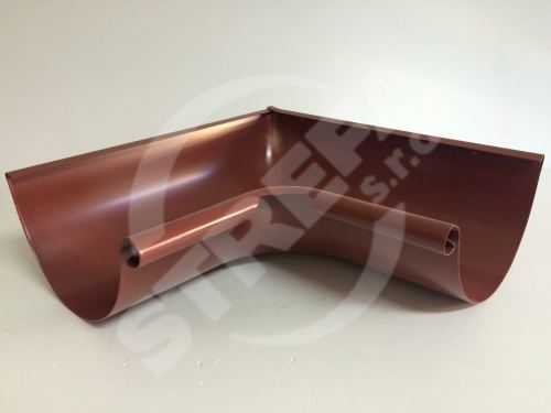 PREFA roh žlabu 90° vnitřní, Ø 100 mm (r.š. 250 mm)