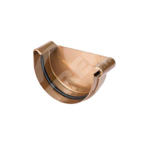 Čelo žlabu PRAVÉ plastové Ø 125 mm, Měděná RAL vlastní