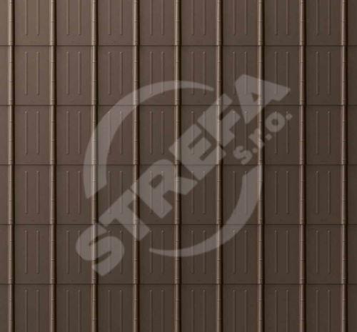 PREFA falcovaná taška, povrch stucco, Vojenská hnědá - khaki P.10