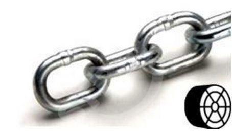 Řetěz DIN 5685A cívka 3,0mm, ZB polodlouhý článek