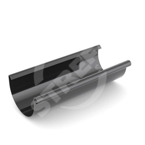 Žlab, okap plastový Ø 125 mm, délka 4M, Černá RAL 9005