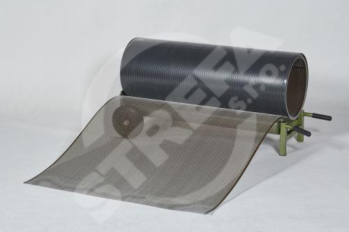 PREFA děrovaný hliníkový plech ve svitku 0,70 x 1000 mm, Antracit/Vojenská hnědá - khaki