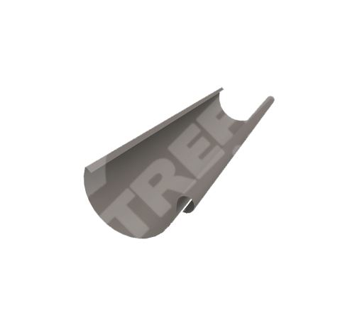 PREFA žlaby, okapy půlkulaté o délce 6m, Ø 125 mm (r.š. 280 mm)