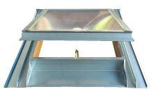 Střešní vikýř s makrolonem, 600 x 600, titanzinek
