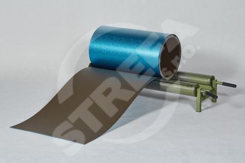 PREFA hliníkový plech Prefalz 0,70 x 650 mm Vojenská hnědá - khaki P.10 stucco (RAL7013)