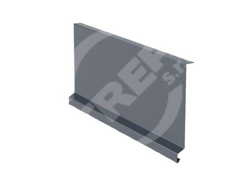 Závětrná lišta r.š. 250mm-pod krajovou tašku, Prefalz, hladký, Antracitová P.10