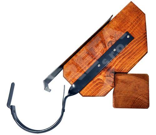 Hák žlabový, okapový překroucený lakovaný pozink Ø 125 mm (r.š. 280 mm)