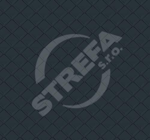 PREFA falcovaná šablona 29x29, povrch stucco, Antracit P.10
