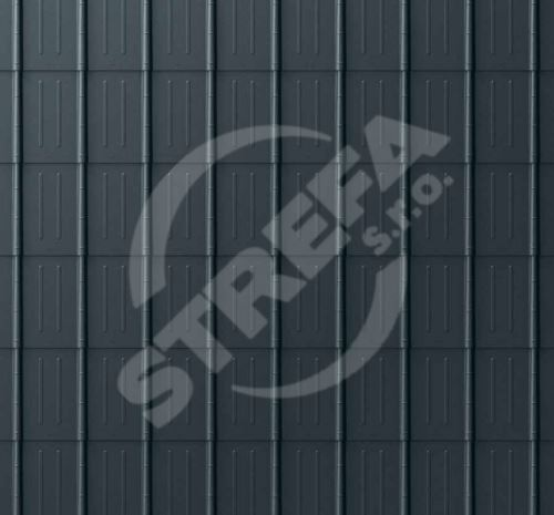 PREFA falcovaná taška, povrch stucco, Antracit P.10