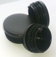Zátka do trubky kruhová 30mm, černá