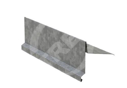 Závětrná lišta r.š. 330mm-na pultovou střechu, Pozinkovaný plech, Přírodní