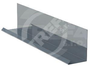 Lemování zdí r.š.250mm v kombinaci s krycí lištou, Prefalz, hladký, Antracitová P.10