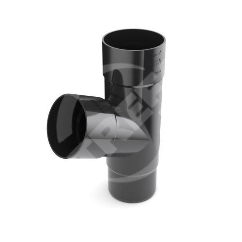 Odbočka svodu plastová Ø 63 mm, Černá RAL 9005