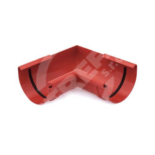 Roh žlabu vnitřní plastový Ø 125 mm, Červená RAL 3011