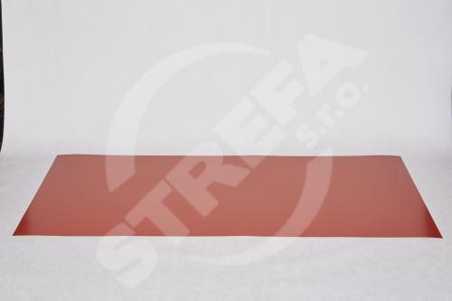 Tabule český hliník 0,6x1000x2000  lak. s fólií Červený RAL8004