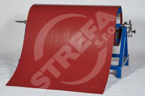 Pozinkovaný plech ve svitku 0,5 x 1250 mm, Ocelově červená (RAL 3009)
