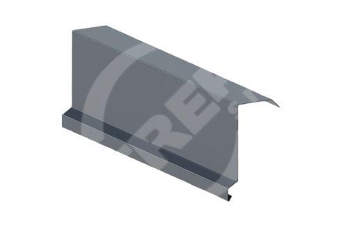 Závětrná lišta r.š. 250mm-horní, Lakovaný pozinkovaný plech s folií, Antracitová (RAL 7016)