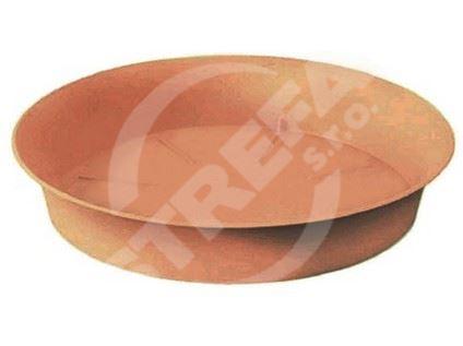 Miska Plastica 23, cihlově červená (R624)
