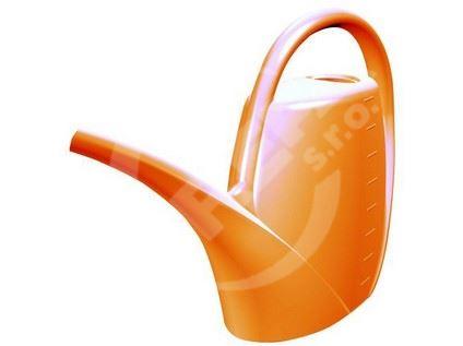 Zahradní konev 1,7l oranžová plast