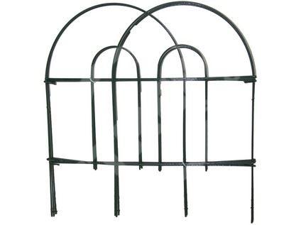 Plůtek zahradní 45cmx3m kov/plast (7ks), zelený