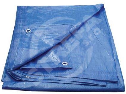 Plachta s oky 5x8m, modrá