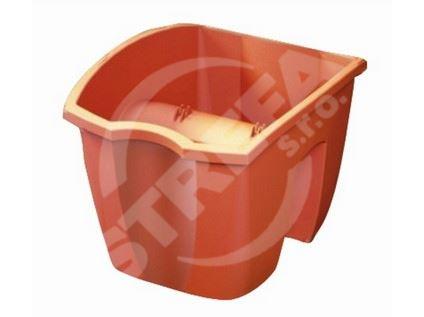 Truhlík balkonový Crown 24x28x20cm, 7l, cihlově červený (R624)