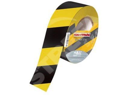 Páska výstražná 75mmx500m žlutá-černá